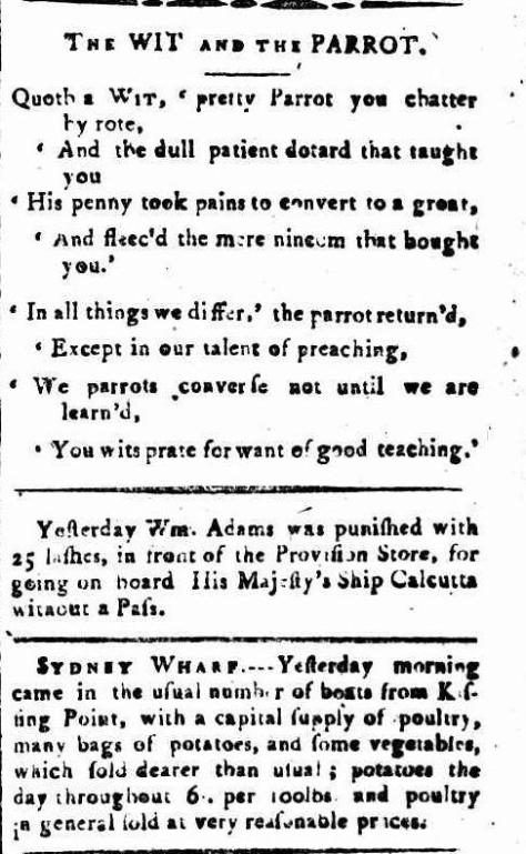 The Sydney Gazette and New South Wales Advertiser (NSW - 1803 - 1842), Sunday 8 January 1804