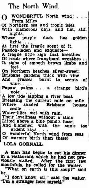 1 1 1 1 1 1 1 The Brisbane Courier (Qld. - 1864 - 1933), Saturday 20 April 1929