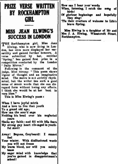 Morning Bulletin (Rockhampton, Qld. - 1878 - 1954), Monday 21 August 1939