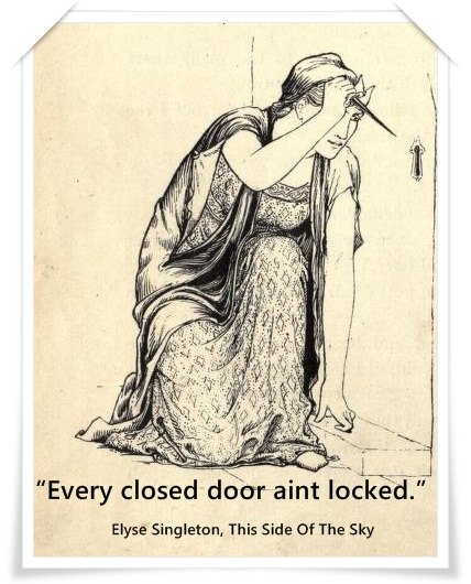 Luck stops at the door and inquires whether  prudence is within. Dan.